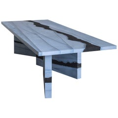 Stag Dining Table, Slate Cement and Black Silica by Fernando Mastrangelo