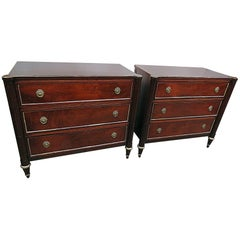 Pair of Jansen Style Commodes