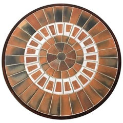 Vintage Ceramic Wall Panel Table by Roger Capron