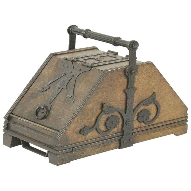 Dr C Dresser, Designed for Benham and Froud, a Rare Gothic Revival Oak Coal Box
