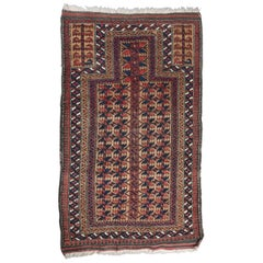 Antique Hand-Knotted Persian Baluch Prayer Rug, 1900