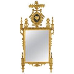 Italian Neoclassical Giltwood Mirror, circa 1790