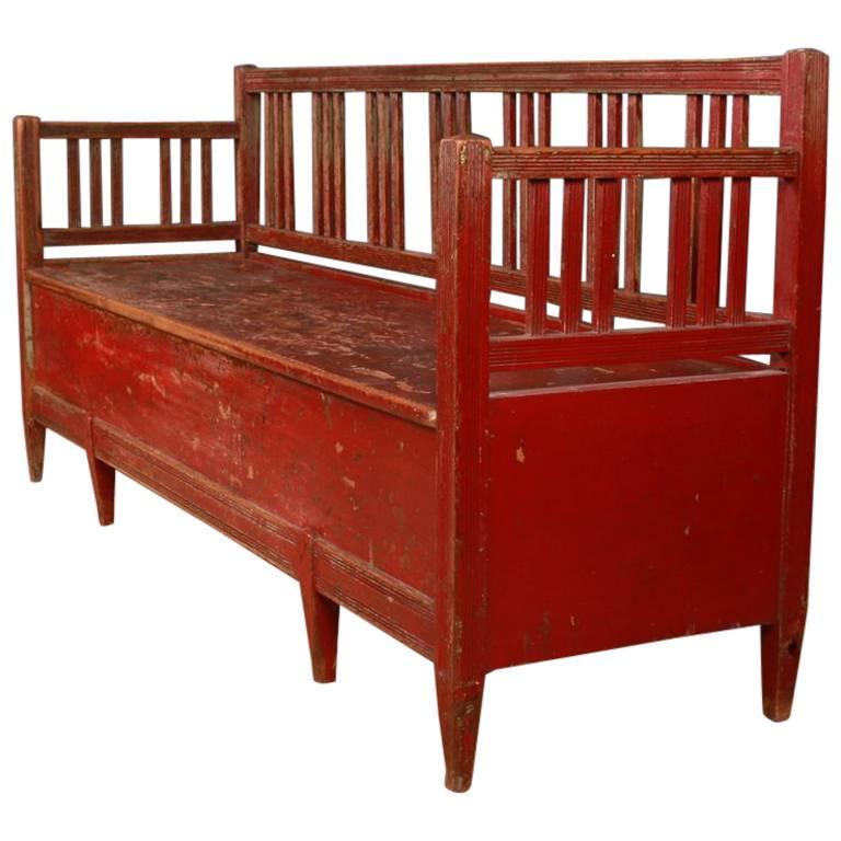 Original Painted Swedish Bench