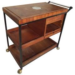 Vintage Modern Teak Serving Cart