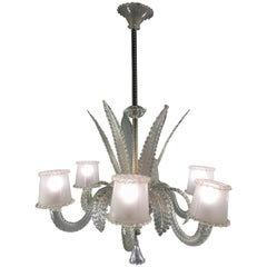 Amazing Chandelier by Barovier & Toso, Murano, 1940s