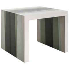 Fade Side Table, Hunter Green Cement by Fernando Mastrangelo