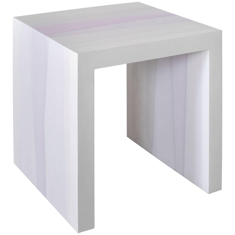Fade Side Table, Lavender Cement by Fernando Mastrangelo