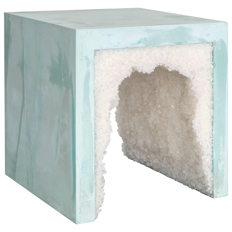 Strata 3 Side Table, Cement + Aggregate by Fernando Mastrangelo