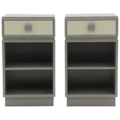 Kittinger Nightstands with Drawer, Expertly Restored, Greek Key Motif
