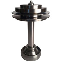 Custom Made Stainless Steel Table Lamp, One of a Kind