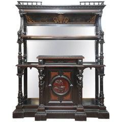 Superb 19th Century Black Ebony Cabinet, Hall Cupboard