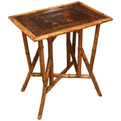 Superb 19th Century English Bamboo Side Table