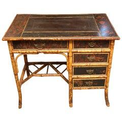 Superb 19th Century English Bamboo Desk