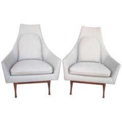 Paul McCobb Symmetric Group Lounge Chairs by Widdicomb