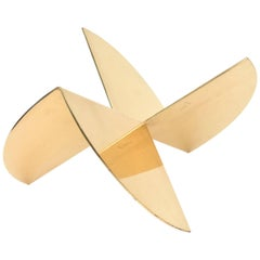 Gold-Plated Organic Abstract Intersecting Sculpture