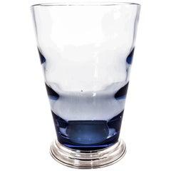 Rare Blue Glass Hawkes Vase