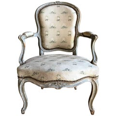 "Louis XV Fauteuil Cabriolet, Signed ""Nadal L'Aine"", circa 1760"