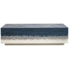 Block Coffee Table, Navy Cement, Grey Rock Salt and White Rock Salt by Fernando