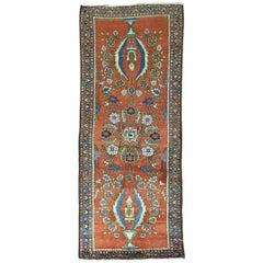 Antique Persian Mohajeran Sarouk Small Runner