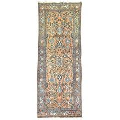 Antique Persian Sarouk Small Runner
