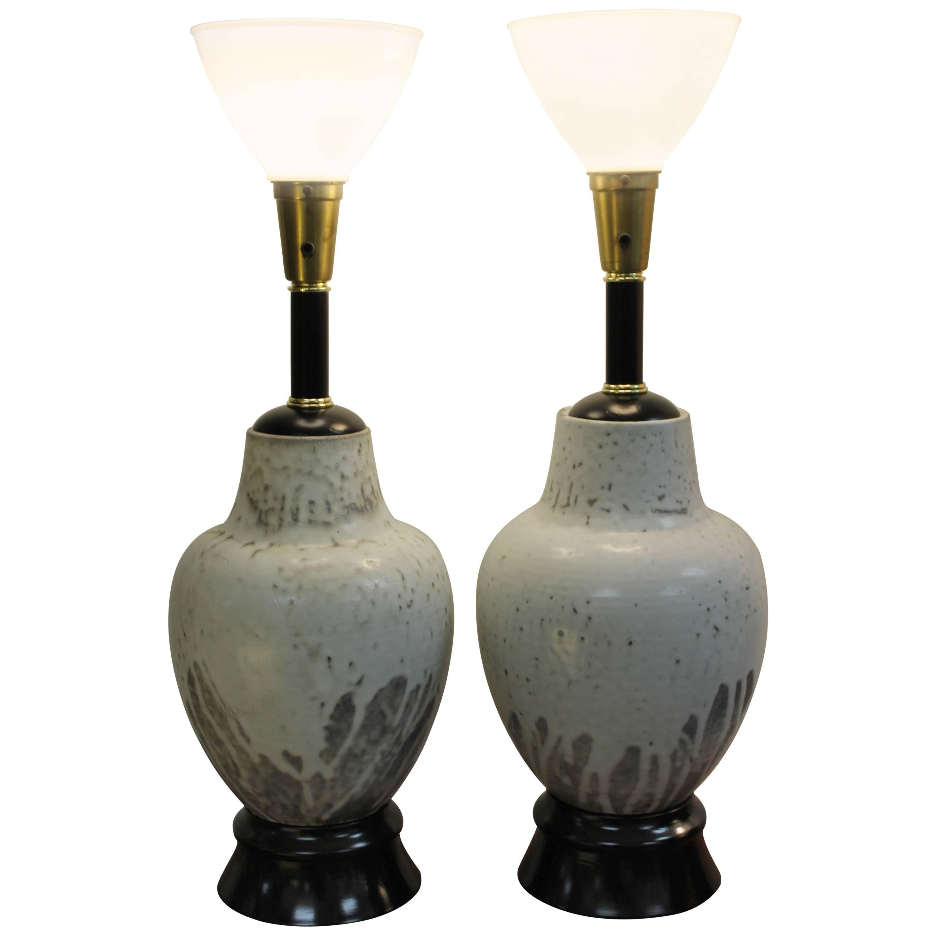 Pair of Ceramic Lamps by Mobach