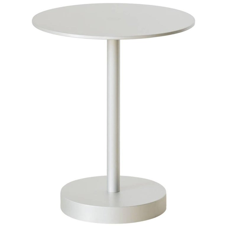 Contemporary Strata Side Table in Anodized Aluminum by Fort Standard, in Stock For Sale