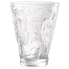 Lalique Ondines Vase Clear Crystal