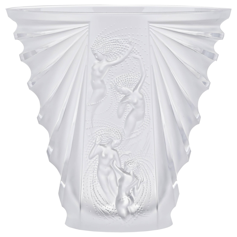 Lalique Naiades Vase Clear Crystal