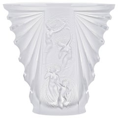Lalique Naiades Vase Clear Crystal