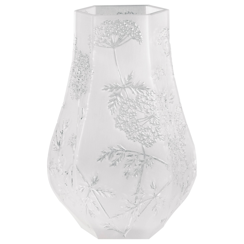Lalique Ombelles Vase Clear Crystal