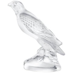 Lalique Falcon Sculpture Clear Crystal