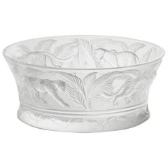 Lalique Jungle Bowl Clear Crystal