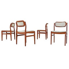Johannes Andersen Rosewood Dining Chairs for Uldum Møbelfabrik Set of Four