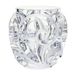 Lalique Tourbillons Vase Clear Crystal