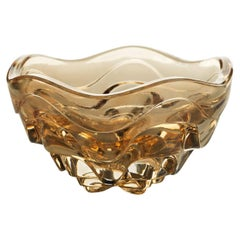 Lalique Vibration Box Gold Luster Crystal