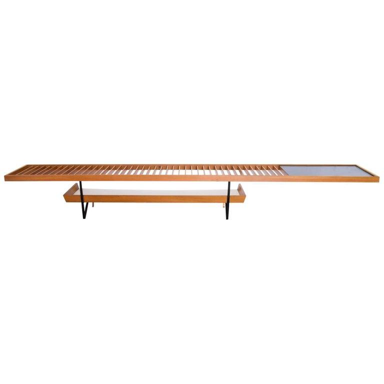 1950s Bench / Auxiliary Table in Pau Marfim Wood by Acácio Gil Borsoi, Brazil For Sale