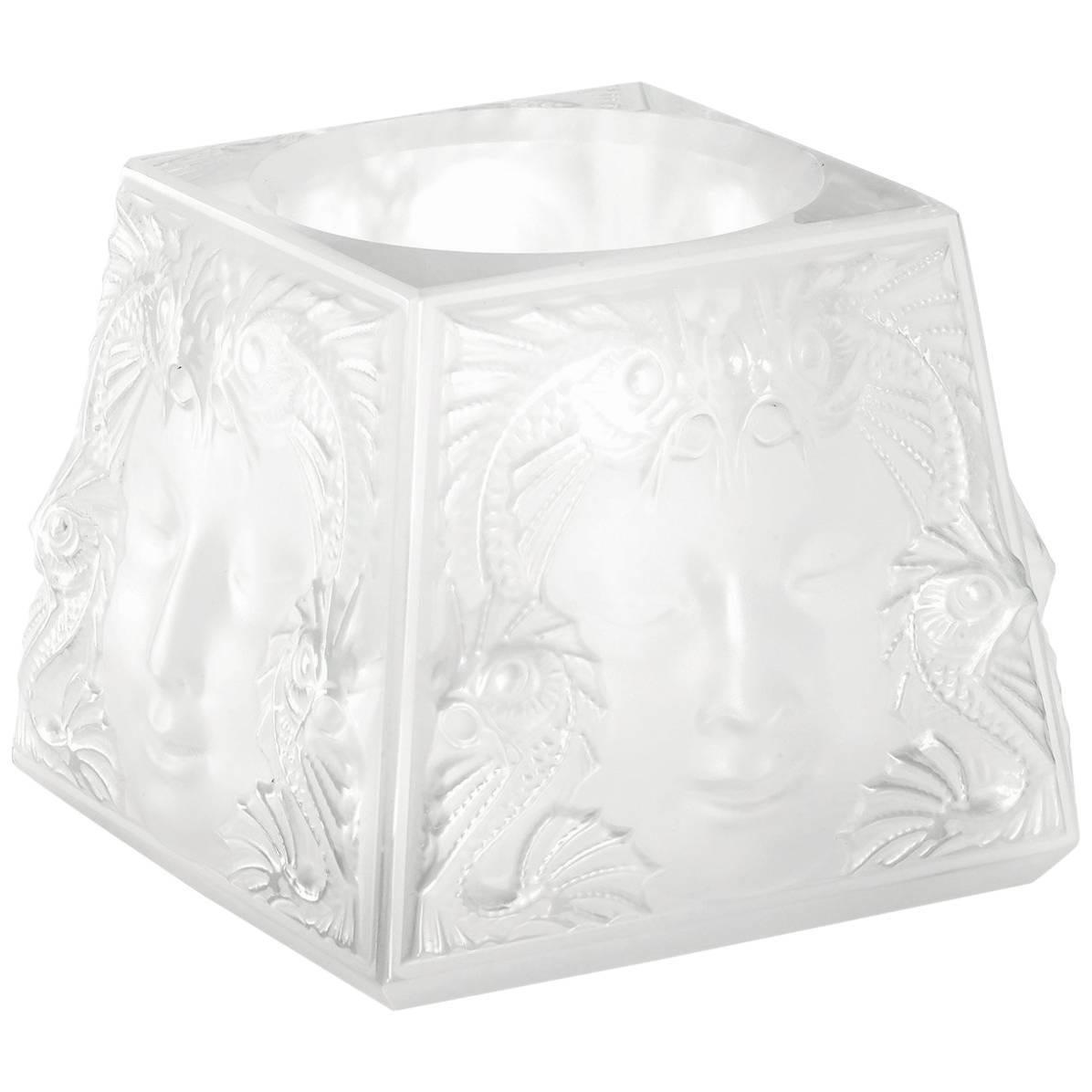 Lalique Masque De Femme Votive Clear Crystal