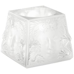 Lalique Masque De Femme Votive Clear Crystal
