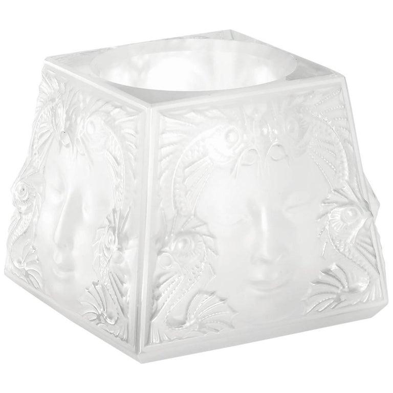 Lalique Masque De Femme Votive Clear Crystal For Sale