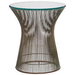 Side Table Iron and Glass by Warren Platner for Knoll Inc., Brazilian Production