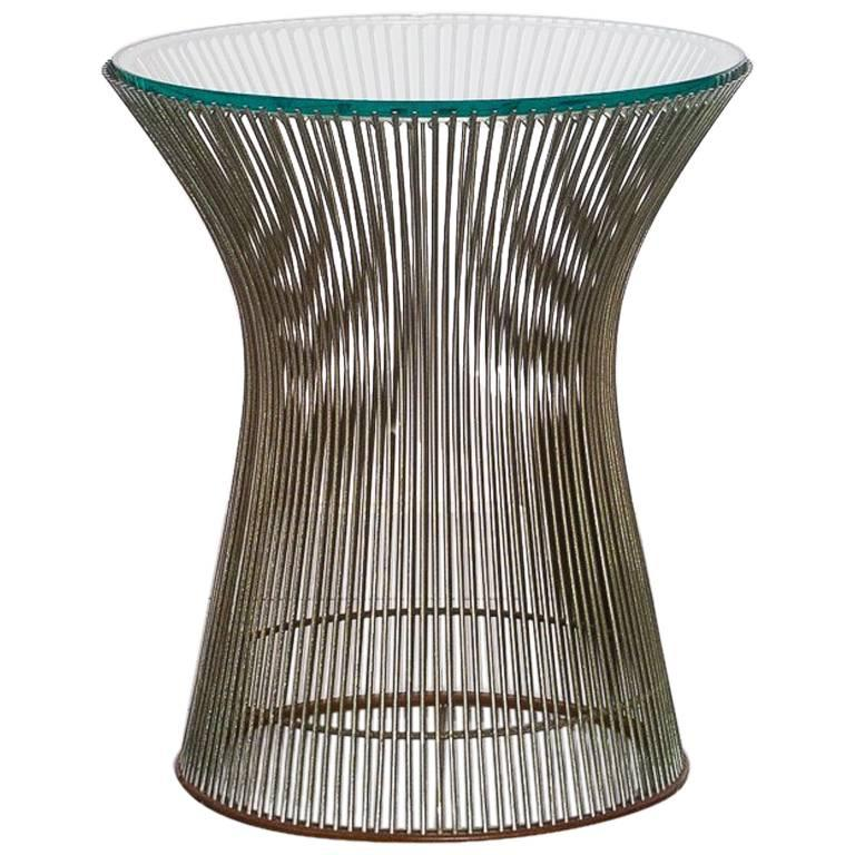 Iron and Glass Side Table by Warren Platner for Knoll Inc., Brazilian Production