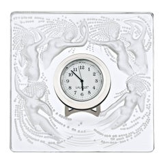 Lalique Naiades Clock Clear Crystal