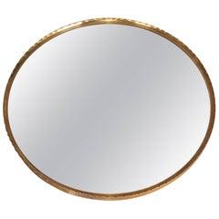 Round Brass Josef Frank Style Mirror