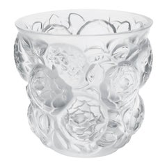 Lalique Oran Vase Clear Crystal or Gold Limited Edition 99