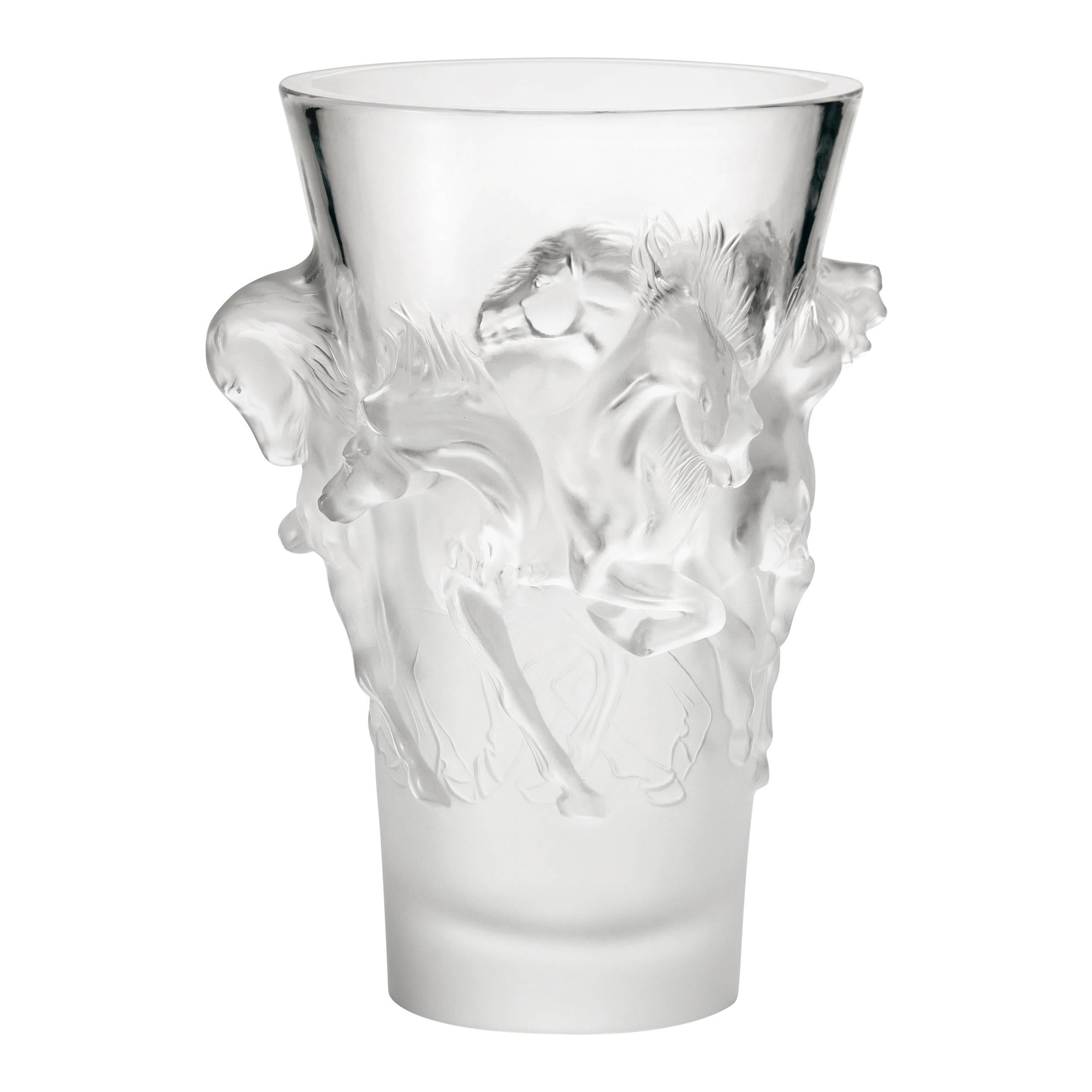 Lalique Equus Vase Clear Crystal Limited Edition 999