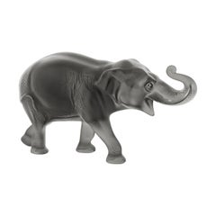 Lalique Sumatra Elephant Figure Gray Crystal Limited Edition 288