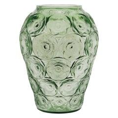 Lalique Anemones Vase Green Crystal
