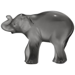 Lalique Timora Elephant Gray Crystal
