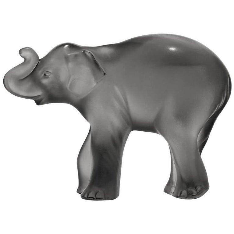 Lalique Timora Elephant Gray Crystal