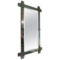 Large 1900s Venice Mirror French Work